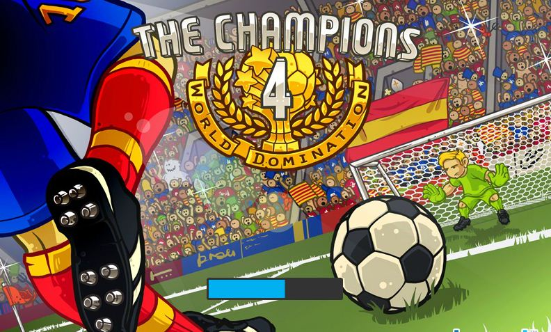 بازی انلاین 3dفوتبال  the-champions-4-world-domination